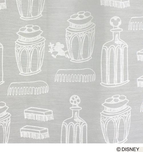 【送料無料12/24 1:59迄P2倍】ディズニー レースカーテン 100×198cm 「ミッキー/チャーミングボトル」 日本製 洗えるレースカーテン 1枚入り スミノエ