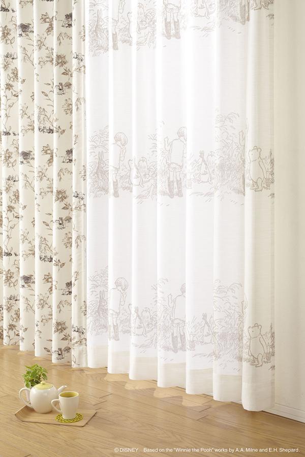 d11bd530db51 Disney Lace Curtains 100 x 176 cm  Winnie the Pooh   secret