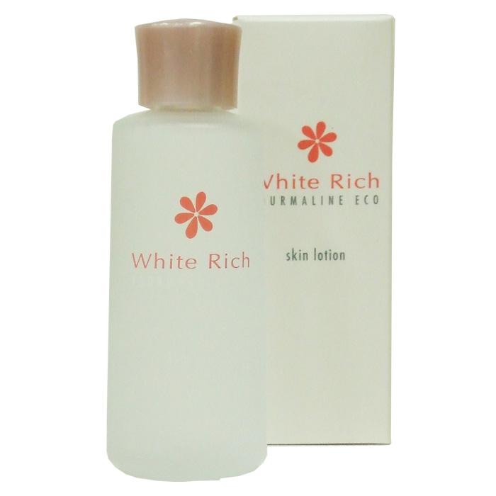 送料無料 日本製 トルマリンパウダー配合 YJ エコ・ローションホワイト 保湿 化粧水 120ml White Rich ホワイトリッチ