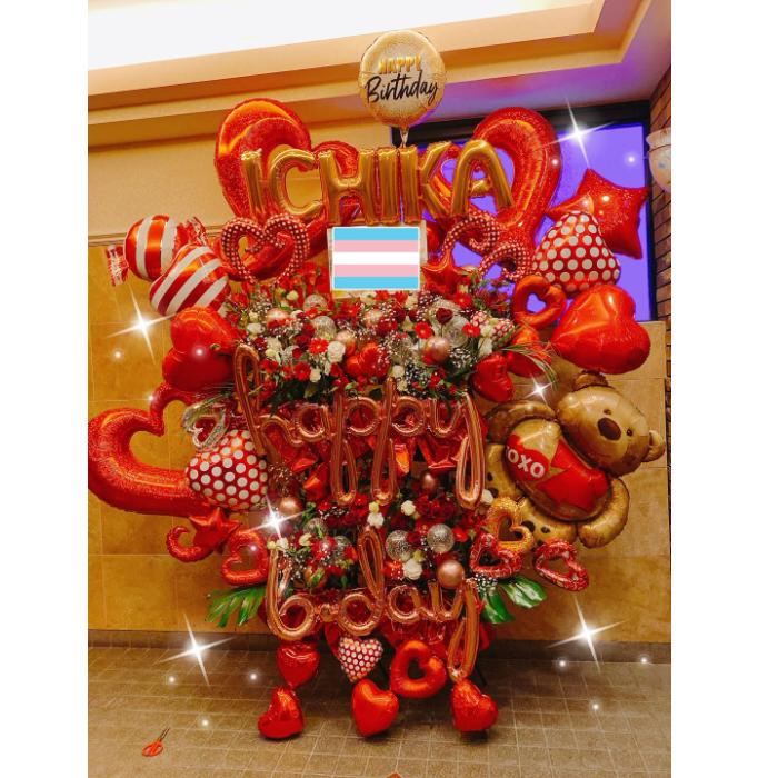 豪華 バルスタ 生花 スタンド イベント 特大 お誕生日 お祝い