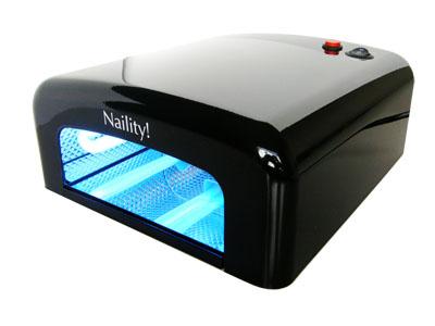 送料無料 広々開口部でフット ペディ にも使える ジェルネイルライト Naility ジェルネイル 36W UVライト 情熱セール ネイル用品 毎日続々入荷 Black