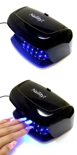 コードレスにもできる ジェルネイル用コンパクトLEDライト Naility 定番スタイル ネイリティー LEDライト 3W ネイル用ライト 日時指定 ジェルネイル ネイルライト ネイル用品