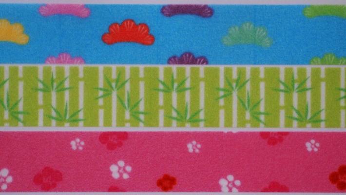 江戸娘のかわいいキャラクターが和柄を紹介 リンレイテープRink小町 松竹梅 爆売り 3個組 和柄マスキングテープ 売却