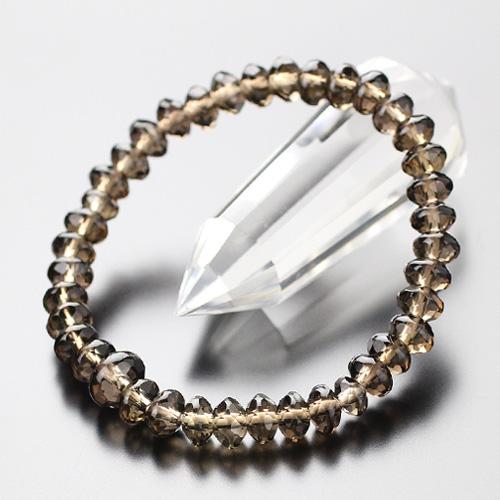 数珠ブレスレット スターシェイプ 茶水晶【腕輪念珠 パワーストーン 天然石 お数珠 お守り BIM 107000141】【送料無料】