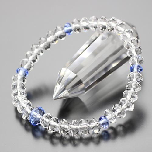 数珠ブレスレット スターシェイプ 本水晶 ブルークォーツ 【腕輪念珠 パワーストーン BIM 107000121】【送料無料】