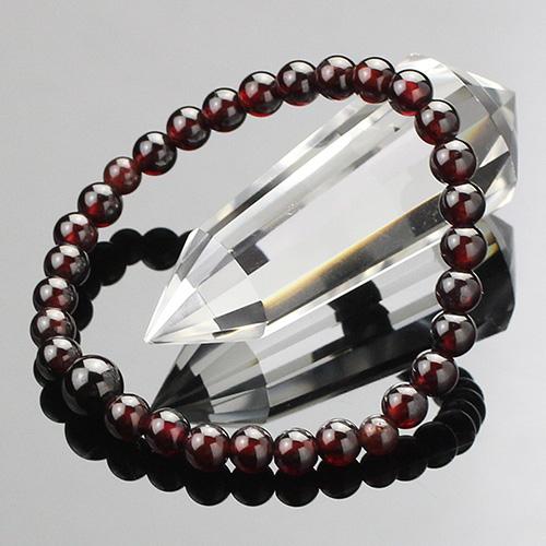 約6ミリ ガーネット 数珠ブレスレット【腕輪念珠 天然石 6mm ブレスレット 1月の誕生石 パワーストーン2000800301596】【送料無料】