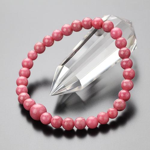 数珠ブレスレット 約6ミリ ロードナイト【腕輪念珠 パワーストーン 数珠ブレス 天然石 守り バラ輝石 BIM 107060026】【送料無料】