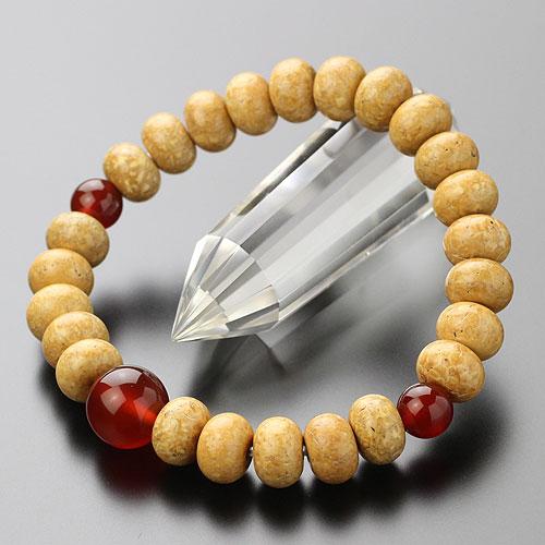 数珠 ブレスレット 約7×10ミリ みかん玉 天竺菩提樹 瑪瑙【腕輪念珠 数珠ブレス メノウ 2000800400268】【送料無料】