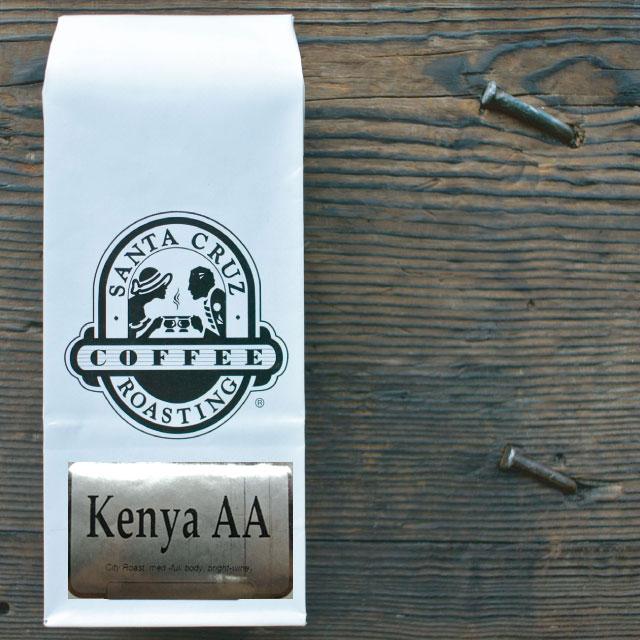 Quality Assurance International TransfairUSA公認フェアトレードコーヒー SINGLE ORIGIN BEANS ケニアAA 人気急上昇 サンタクルーズ 公式 Kenya オーガニックコーヒーSANTA AA CRUZ