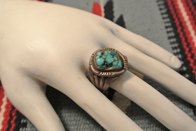Vintage Indian Jewelry ヴィンテージ・インディアンジュエリー Turquoise Ringターコイズリング