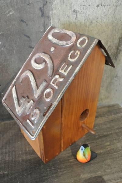 インポート◆アメリカ◆USA◆ヴィンテージ◆1942 Number Plate Custom Nest Boxヴィンテージナンバープレートカスタムバードネスト
