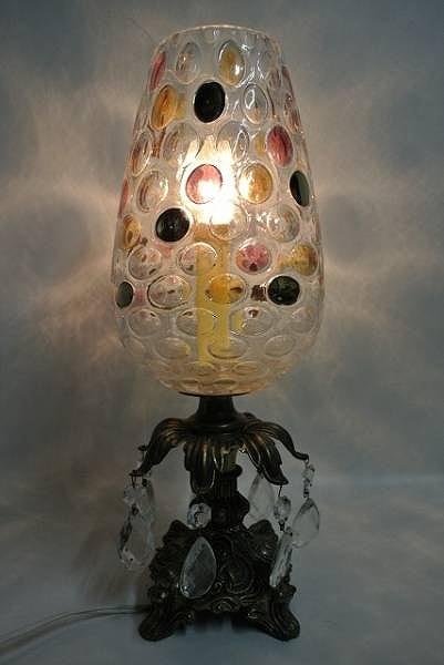 インポート◆アメリカ◆USA◆ヴィンテージ◆ Vintage Bohemian glass Chandelier ボヘミアンガラスシャンデリア (スタンドランプ)