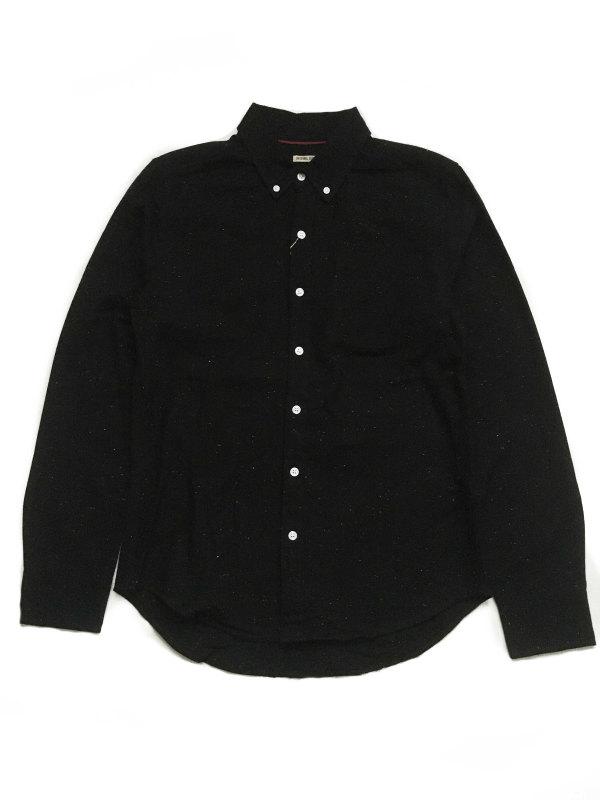 Bridge & Burn button-down shirtブリッジ アンド バーン ボタンダウンシャツ(SUTTON Black/Donegal)