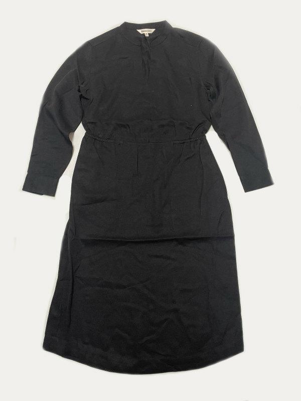 <title>BRIDGE BURN Corinne Black onepeiceブリッジ 国際ブランド アンド バーン コリーン ワンピース ブラック 100% Tencel</title>