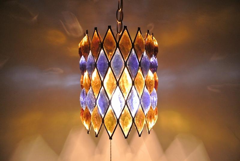 入園入学祝い 60's Vintage Diablock Pendant Pendant 60's Lumpダイヤブロックプリズムランプ, 買い保障できる:d4614def --- agnarquitetura.com.br