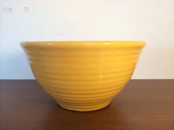 インポート◆アメリカ◆USA◆ヴィンテージ◆BAUER POTTERY バウアーポタリー Ceramic Bowl セラミックボウル (Yellow)