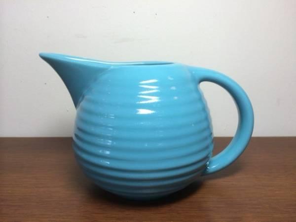 インポート◆アメリカ◆USA◆ヴィンテージ◆BAUER POTTERY バウアーポタリー Ceramic Pitcher セラミックピッチャー (turquoise)