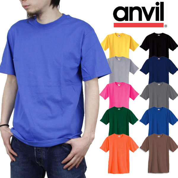 Anvil red label 6.1 OZ. heavyweight solid color t-shirt 100 %cotton TEE anvil short sleeve plain T shirts [color]