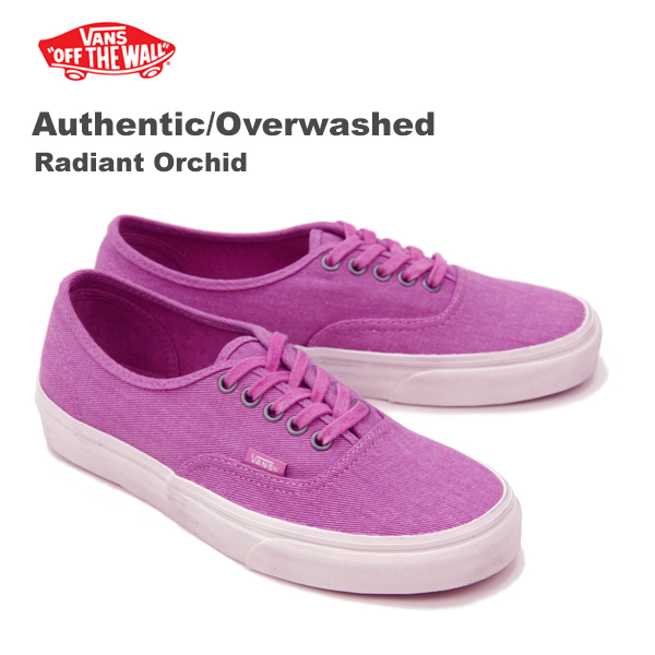 Vans (VANS) authentic and overwash (Authentic/Over Washed) women's canvas  sneakers «Radiant Orchid»
