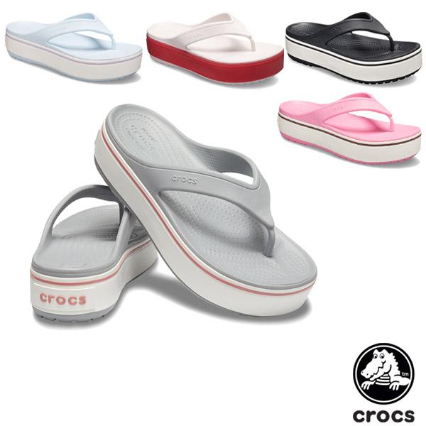 クロックス(CROCS) クロックバンド プラットフォーム フリップ(crocband platform flip) レディース 厚底 サンダル【女性用】 [BB]【40】