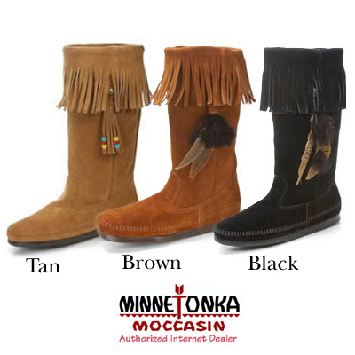 MINNETONKA Calf Hi 3-In-One Boot Mine Tonka suede fringe boots