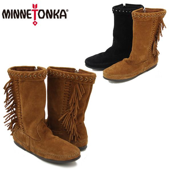 【送料無料】ミネトンカ(MINNETONKA) ルナ フリンジ ブーツ(Luna Fringe Boot)スエード ブーツ【楽ギフ_包装選択】【4】[BB]