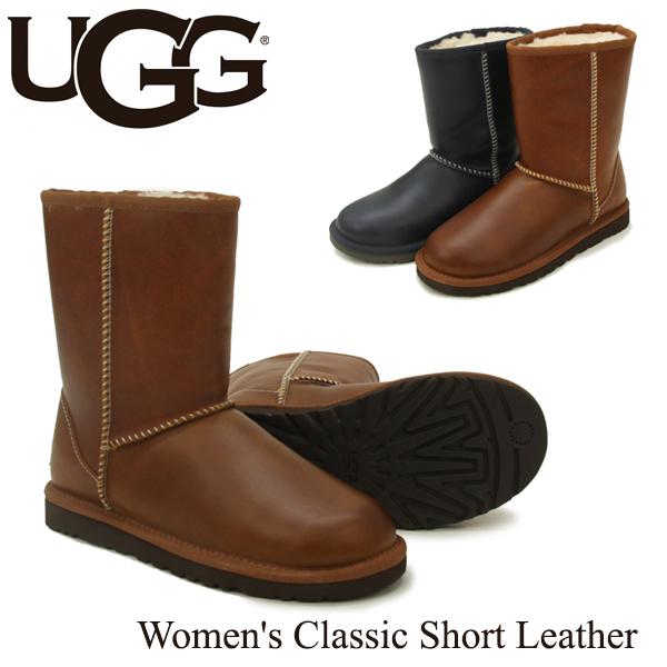 【送料無料】【正規品】アグ オーストラリア(UGG Australia) ウィメンズ クラシック ショート レザー(Classic Short Leather)シープスキンブーツ/ムートンブーツ【楽ギフ_包装選択】[CC]