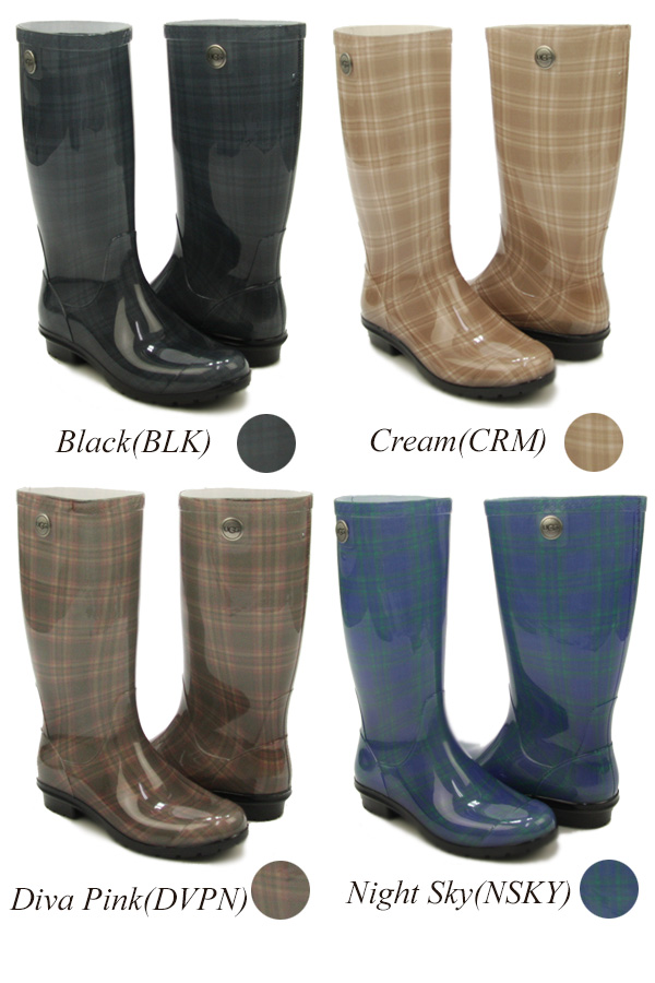 cd89fd3a449 アグオーストラリア (UGG Australia) women shape Ladd (Woman's Shaye Plaid) rain boots  / boots [CC]