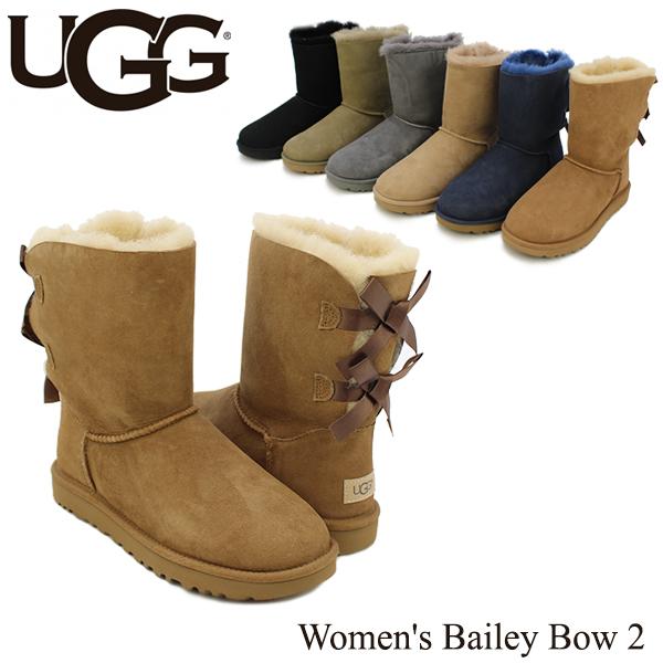 【送料無料】【正規品】アグ オーストラリア(UGG Australia) ウィメンズ ベイリー ボウ 2(Women's Bailey Bow 2)/ムートンブーツ/【楽ギフ_包装選択】[CC]