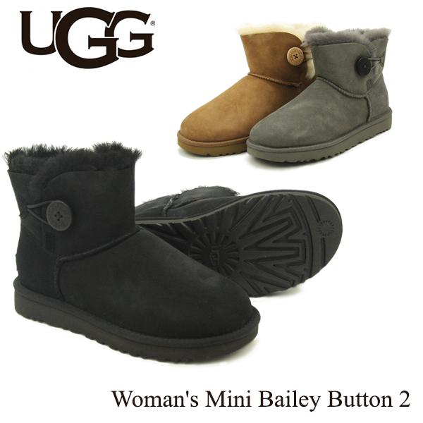 【送料無料】【正規品】アグ オーストラリア(UGG Australia) ウィメンズ ミニ ベイリーボタン 2(Women's MIni Bailey Button 2)シープスキンブーツ/ムートンブーツ【楽ギフ_包装選択】[CC]