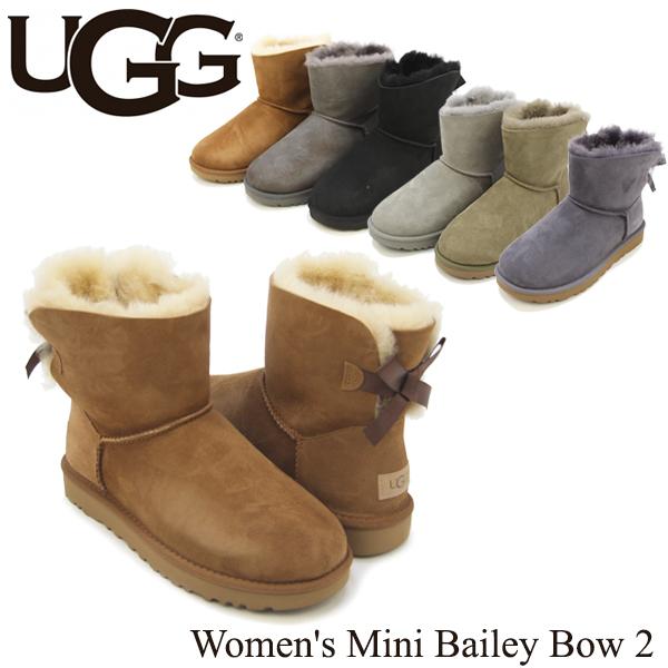 【送料無料】【正規品】アグ オーストラリア(UGG Australia) ウィメンズ ミニ ベイリーボウ 2(Women's MIni Bailey Bow 2)シープスキンブーツ/ムートンブーツ【楽ギフ_包装選択】【23】[CC]