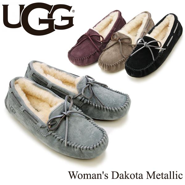 【送料無料】【正規品】アグ オーストラリア(UGG Australia) ウィメンズ ダコタ メタリック(Woman's Dakota Metallic)モカシン/スリッポン【楽ギフ_包装選択】【18】[CC]