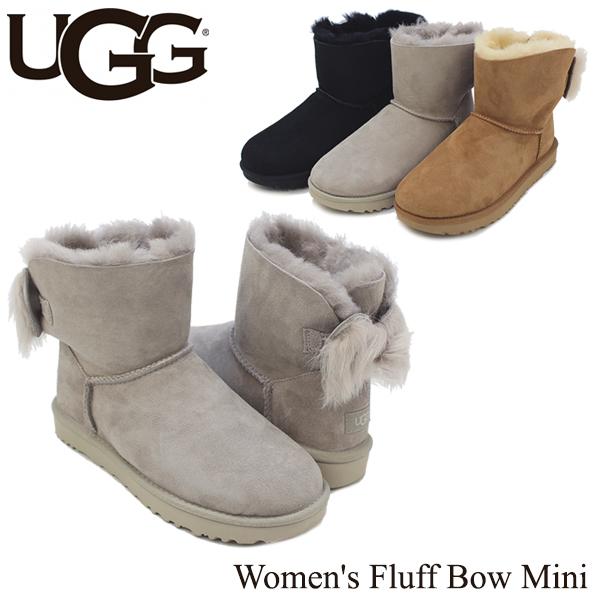 【送料無料】【正規品】アグ オーストラリア(UGG Australia) ウィメンズ フラッフ ボウ ミニ(Women's Fluff Bow Mini)/ブーツ/ショート【楽ギフ_包装選択】【11】[CC]