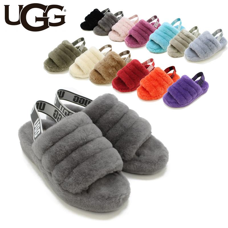 【送料無料】【正規品】アグ オーストラリア(UGG Australia) ウィメンズ フラッフ イヤー スライド(Women's Fluff Yeah Slide)/スライド/サンダル【楽ギフ_包装選択】【12】[CC]