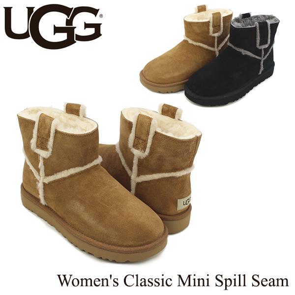 【送料無料】【正規品】アグ オーストラリア(UGG Australia) ウィメンズ クラシック ミニ スピル シーム(Women's Classic Mini Spill Seam)/ブーツ/ショート【楽ギフ_包装選択】【12】[CC]