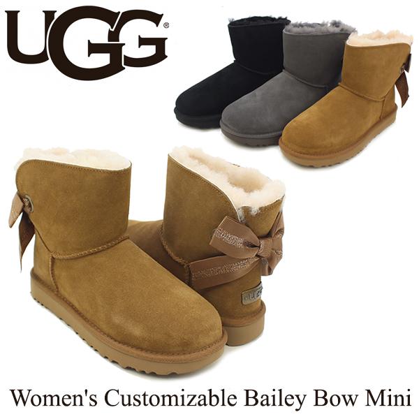 【送料無料】【正規品】アグ オーストラリア(UGG Australia) ウィメンズ カスタマイザブル ベイリー ボウ ミニ(Women's Customizable Bailey Bow Mini)/ブーツ/ショート【楽ギフ_包装選択】[CC]