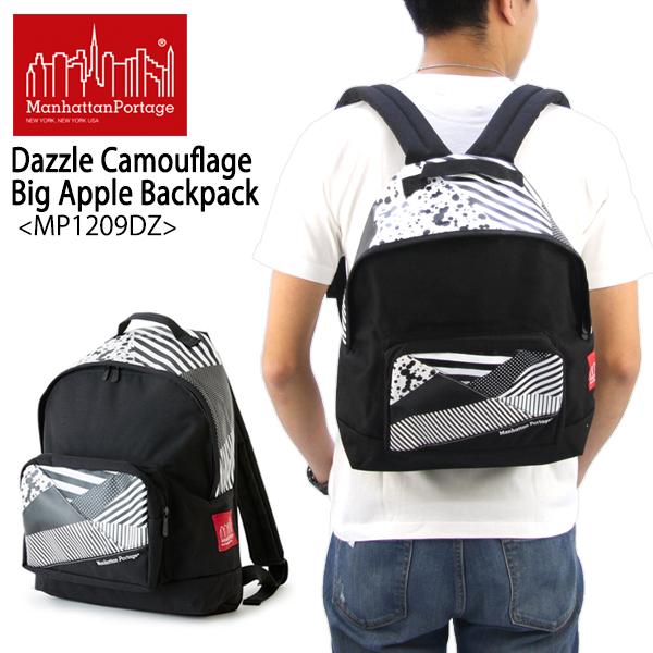 【送料無料】【国内正規品】マンハッタン ポーテージ(Manhattan Portage) Dazzle Camouflage Big Apple Backpack(MP1209DZ) バックパック≪M≫ リュックサック/デイバッグ/かばん【楽ギフ_包装選択】【r】[DD]