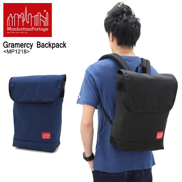 【送料無料】【国内正規品】マンハッタン ポーテージ(Manhattan Portage) Gramercy Backpack(MP1218) バックパック≪M≫ リュックサック/かばん/デイバッグ【楽ギフ_包装選択】[DD]