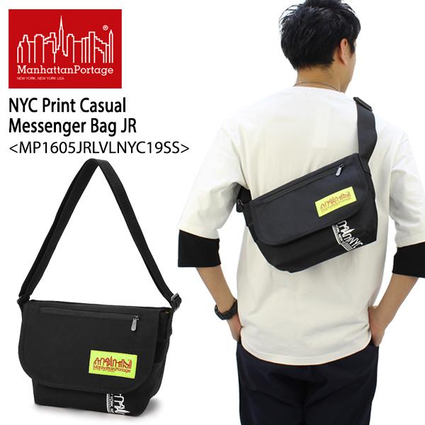 【送料無料】【国内正規品】マンハッタン ポーテージ(Manhattan Portage)NYC Print Casual Messenger Bag JR(MP1605JRLVLNYC19SS)メッセンジャーバッグ≪S≫ ショルダーバッグ[BB]