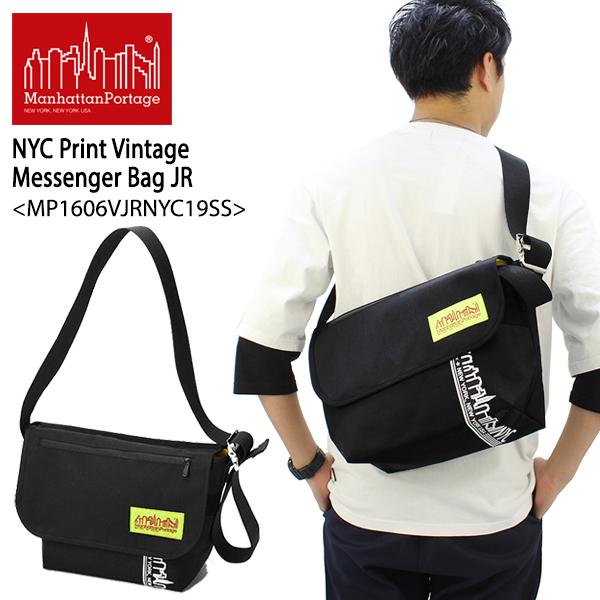 【送料無料】【国内正規品】マンハッタン ポーテージ(Manhattan Portage) NYC Print Vintage Messenger Bag JR(MP1606VJRLVLNYC19SS)メッセンジャーバッグ≪M≫ ショルダーバッグ[DD]