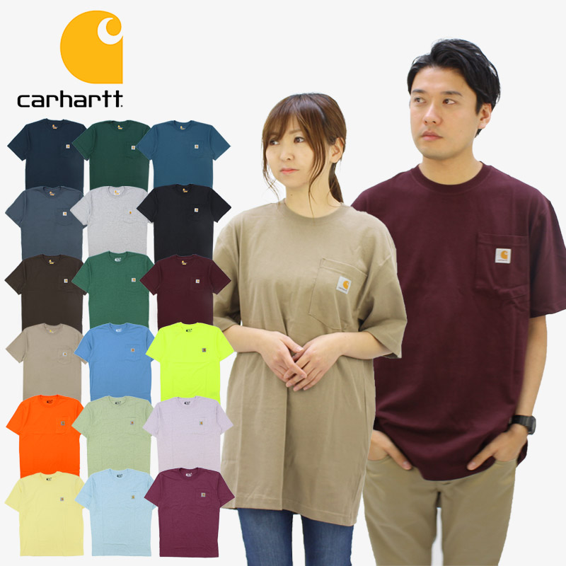<title>ゆうパケット送料無料 即日出荷 US企画 カーハート Carhartt WORKWEAR S POCKET T-SHIRT K87 K87-M メンズ 半袖 Tシャツ ワークウェア カットソー AA-3</title>