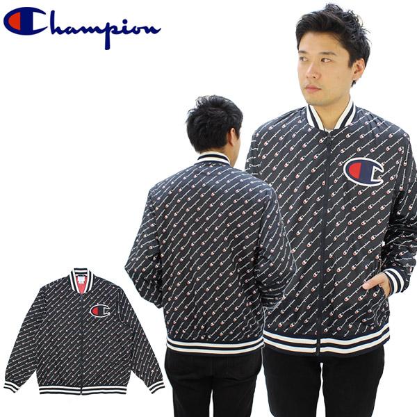 【送料無料】チャンピオン(Champion) サテン ロゴ ベースボール ジャケット (Satin Logo Baseball Jacket) スタジャン(v1941p) メンズ アウター【楽ギフ_包装選択】【r】[BB]