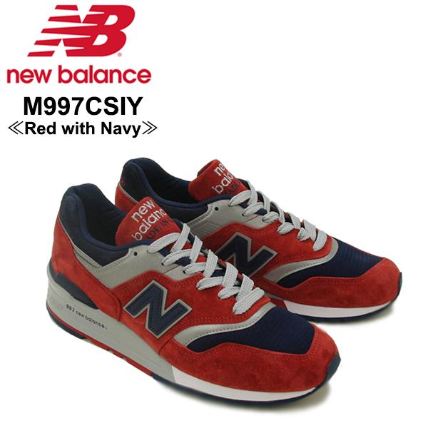 【送料無料】ニュー バランス(New Balance) M997/997 Made In USA ランニング スニーカー ≪M997CSIY/Red with Navy≫シューズ/メンズ/男性用【楽ギフ_包装選択】[CC]