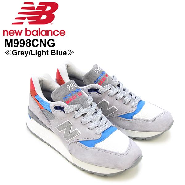 【送料無料】ニュー バランス(New Balance) M998/998 Made In USA Baseball スニーカー ≪M998CNG/Grey/Light Blue≫シューズ/メンズ/男性用【楽ギフ_包装選択】[CC]