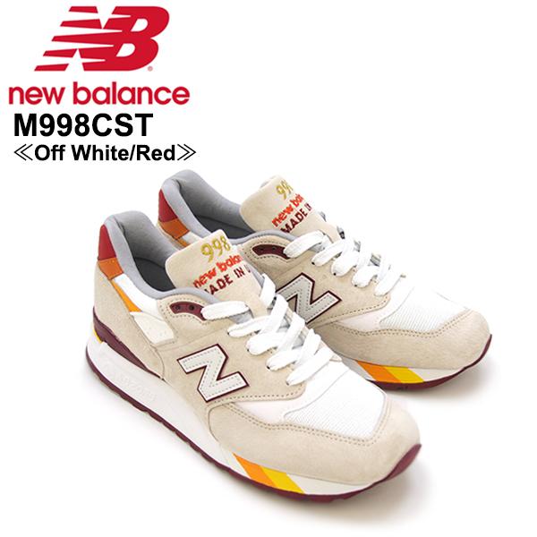 【送料無料】ニュー バランス(New Balance) M998/998 Made In USA Coumarin Pack スニーカー ≪M998CST/Off White/Red≫シューズ/メンズ/男性用【楽ギフ_包装選択】[CC]