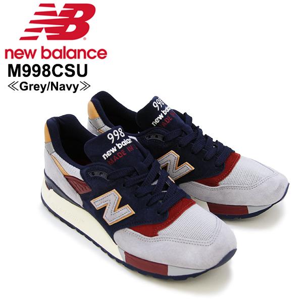 【送料無料】ニュー バランス(New Balance) M998/998 Made In USA Desert Heat スニーカー ≪M998CSU/Grey/Navy≫シューズ/メンズ/男性用【楽ギフ_包装選択】[CC]