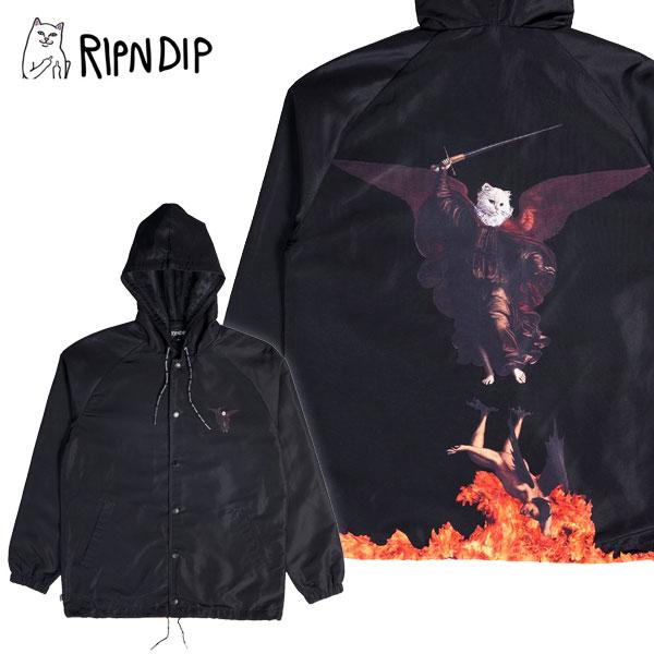 【送料無料】リップンディップ(RIPNDIP) Hell Pit Hooded Coaches Jacket 《Black》 コーチジャケット/アウター/男性用/メンズ【楽ギフ_包装選択】[BB]