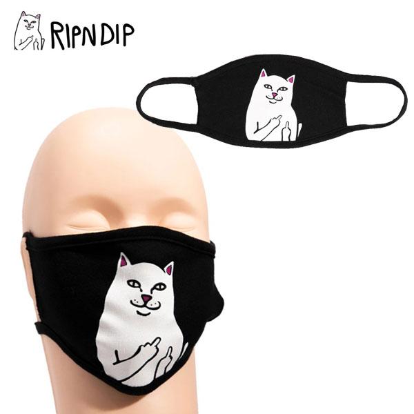 春の新作続々 ゆうパケット送料無料 リップンディップ RIPNDIP Lord Nermal Face Mask Black 布マスク 飛沫対策 小物 AA-2 毎日続々入荷 洗える フェイスマスク マスク