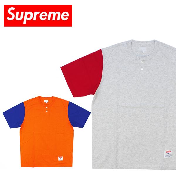 【送料無料】シュプリーム(Supreme)2-Tone S/S Henley Tee (2トーン ヘンリー Tシャツ)半袖 Tシャツ/ヘンリーネック/男性用/メンズ【楽ギフ_包装選択】[BB]