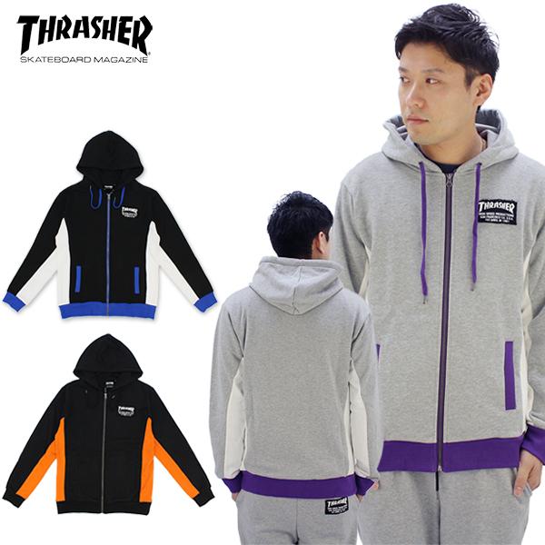 スラッシャー(THRASHER) MAG PATCH HOODIE (TH5096) メンズ プルオーバー フード スウェット[BB]